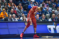 NWA Democrat-Gazette/BEN GOFF @NWABENGOFF<br /> Daniel Gafford, Arkansas forward, hangs his head as Arkansas trails Florida late in the game Thursday, March 14, 2019, during the second round game in the SEC Tournament at Bridgestone Arena in Nashville.