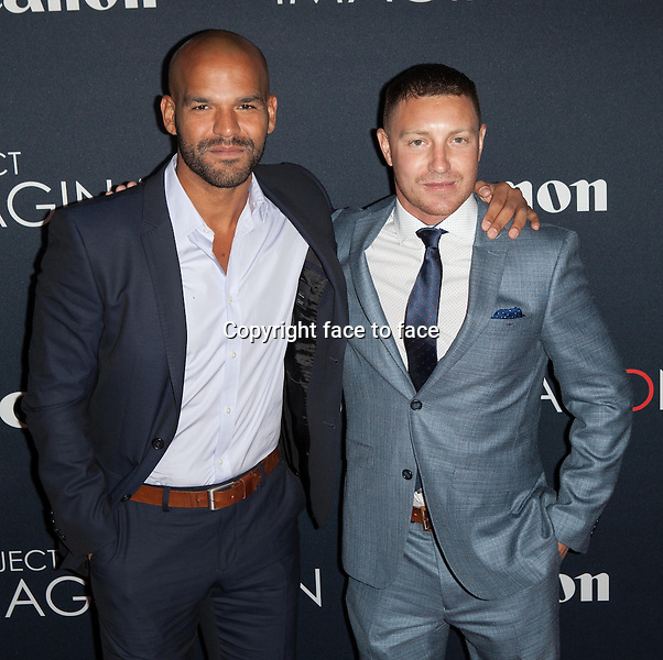 NEW YORK, NY - OCTOBER 24, 2013: Amaury Nolasco and Lane Garrison attend the Premiere Of Canon's Project Imaginat10n Film Festival at Alice Tully Hall on October 24, 2013 in New York City. <br />