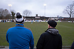 Atherton Collieries 1, Boston United 0, 23/11/19. Alder House, FA Trophy, third qualifying round. Home supporters watching the second-half action as Atherton Collieries played Boston United in the FA Trophy third qualifying round at the Skuna Stadium. The home club were formed in 1916 and having secured three promotions in five season played in the Northern Premier League premier division. This was the furthest they had progressed in the FA Trophy and defeated their rivals from the National League North by 1-0, Mike Brewster scoring a late winner watched by a crowd of 303 spectators. Photo by Colin McPherson.