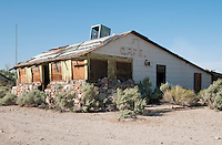 Abandoned roadside cafe on US Highway 395 near Cartago, California