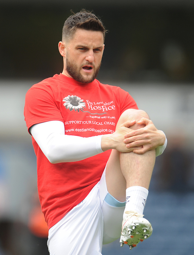 Blackburn Rovers' Craig Conway during the pre-match warm-up <br /> <br /> Photographer Kevin Barnes/CameraSport<br /> <br /> The EFL Sky Bet Championship - Blackburn Rovers v Swansea City - Sunday 5th May 2019 - Ewood Park - Blackburn<br /> <br /> World Copyright © 2019 CameraSport. All rights reserved. 43 Linden Ave. Countesthorpe. Leicester. England. LE8 5PG - Tel: +44 (0) 116 277 4147 - admin@camerasport.com - www.camerasport.com