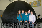 Students in Mercy Mounthawk secondary school explored the universe with SkyDome a mobile planetarium  on Monday Hannah Lenihan, Emma Ryan, Eoghan O Buachalla, and Seán Carmody with Oliver Haughty Sky Dome Academy
