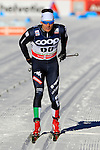 Maicol Rastelli competes during the FIS Cross Country Ski World Cup15 Km Individual Classic race in Dobbiaco, Toblach a, on December 20, 2015. Norway's Martin Johnsrud Sundby wins. Credit: Pierre Teyssot