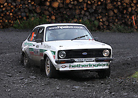Adrian Hetherington / Gary Nolan at Junction 9 on Craignell, Special Stage 1 of the Ian Broll Merrick Stages Rally 2012, Round 7 of the RAC MSA Scotish Rally Championship which was organised by Machars Car Club and Scottish Sporting Car Club and based in Wigtown on 1.9.12.