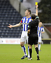 24/10/2009  Copyright  Pic : James Stewart.sct_jspa13_kilmarnock_st_johnstone  . :: KEVIN KYLE RECEIVES A YELLOW CARD FROM REF ALAN MUIR LATER ON IN THE GAME :: .James Stewart Photography 19 Carronlea Drive, Falkirk. FK2 8DN      Vat Reg No. 607 6932 25.Telephone      : +44 (0)1324 570291 .Mobile              : +44 (0)7721 416997.E-mail  :  jim@jspa.co.uk.If you require further information then contact Jim Stewart on any of the numbers above.........