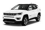 2017 Jeep Compass Limited 5 Door SUV angular front stock photos of front three quarter view