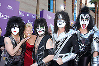 LAS VEGAS - APR 1:  KISS, Nancy O'Dell arrives at the 2012 Academy of Country Music Awards at MGM Grand Garden Arena on April 1, 2010 in Las Vegas, NV