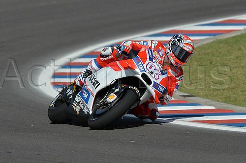 01.04.2016. Termas de Río Hondo, Santiago del Estero, Argentina. MotoGP of Argentina, free practise.  Andrea Dovizioso