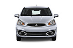 Car photography straight front view of a 2018 Mitsubishi Mirage SE 5 Door Hatchback Front View