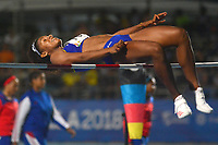 BARRANQUILLA - COLOMBIA, 31-07-2018:Martha Araujo (COL) en salto alto .Juegos Centroamericanos y del Caribe Barranquilla 2018. / Martha Araujo (COL) in high jump during the Central American and Caribbean Sports Games Barranquilla 2018. Photo: VizzorImage /  Alfonso Cervantes /Contribuidor