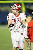January 5th, 2008:  Rutgers quarterback Mike Teel (14) looks to the field during a timeout of the International Bowl at the Rogers Centre in Toronto, Ontario Canada...Rutgers defeated Ball State 52-30.  ..Photo By:  Mike Janes Photography