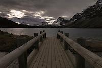The bridge at Bow Lake in Aloberta, Canada