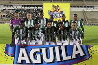 TUNJA-COLOMBIA, 14-08-2016. Formación del Atlético Nacional. Acción de juego entre Boyacá Chicó  y  Nacional   durante encuentro  por la fecha 8 de la Liga Aguila II 2016 disputado en el estadio La IndependenciaTeam of Atletico Nacional. Action game between   Boyaca Chico and  Nacional  during match for the date 8 of the Aguila League II 2016 played at La Independencia stadium . Photo:VizzorImage / César Melgarejo / Contribuidor