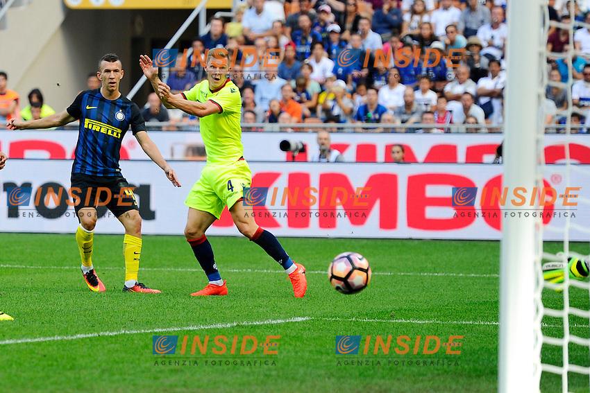 Gol di Ivan Perisic Inter 1-1. Celebration goal<br /> Milano 25-09-2016 Stadio Giuseppe Meazza - Football Calcio Serie A Inter - Bologna. Foto Giuseppe Celeste / Insidefoto