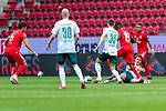 Danny Latza (FSV Mainz 05 #06), Davy Klaassen (Werder Bremen #30), Joshua Sargent (Werder Bremen #19) am Boden, Maximilian Eggestein (Werder Bremen #35) Moussa Niakhate / Niakhaté (FSV Mainz 05 #19)<br /> <br /> <br /> Sport: nphgm001: Fussball: 1. Bundesliga: Saison 19/20: 33. Spieltag: 1. FSV Mainz 05 vs SV Werder Bremen 20.06.2020<br /> <br /> Foto: gumzmedia/nordphoto/POOL <br /> <br /> DFL regulations prohibit any use of photographs as image sequences and/or quasi-video.<br /> EDITORIAL USE ONLY<br /> National and international News-Agencies OUT.