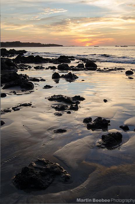 Sunset on the beach at Tamarindo, Guanacaste, Costa Rica