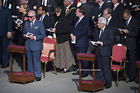 Charles, Prince of Wales Italian president Sergio Mattarella attends the Canonization Mass for English John Henry Newman, Italian Giuseppina Vannini, Indian Maria Teresa Chiramel Mankidiyan, Brazilian Dulce Lopes Pontes, and Swiss Margarita Bays on October 13, 2019 In Saint Peter's square at the Vatican.