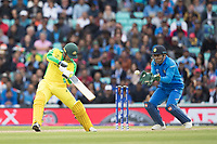 Alex Carey (Australia) cuts to the point boundary during India vs Australia, ICC World Cup Cricket at The Oval on 9th June 2019