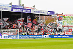 09.11.2019, Stadion an der Bremer Brücke, Osnabrück, GER, 2. FBL, VfL Osnabrueck vs. VfB Stuttgart<br /> <br /> ,DFL REGULATIONS PROHIBIT ANY USE OF PHOTOGRAPHS AS IMAGE SEQUENCES AND/OR QUASI-VIDEO, <br />   <br /> im Bild<br /> Fankurve / Fans / Fanblock / VfB Stuttgart<br /> <br /> <br /> Foto © nordphoto / Paetzel