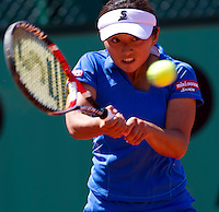 Misaki Doi (JPN) against Polona Hercog (SLO) in the first round of the women's singles. Polona Hercog beat Misaki Doi 6-3 6-0..Tennis - French Open - Day 2 - Mon 24 May 2010 - Roland Garros - Paris - France..© FREY - AMN Images, 1st Floor, Barry House, 20-22 Worple Road, London. SW19 4DH - Tel: +44 (0) 208 947 0117 - contact@advantagemedianet.com - www.photoshelter.com/c/amnimages