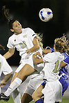 7 November 2007: Wake Forest's Caitlin Farrell (20) rises for a header. Wake Forest University defeated Duke University 1-0 in overtime at the Disney Wide World of Sports complex in Orlando, FL in an Atlantic Coast Conference tournament quarterfinal match.