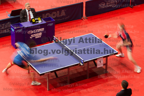 ITTF World Tour Hungarian Open in Budapest, Hungary on January 17, 2012. ATTILA VOLGYI