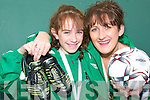 Toni McCarthy, Listowel who scooped an All Ireland gold medal a as right back with the Under 12s Listowel Celtic FC team in Mosney last Sunday and her mother Diana, who scored the same glory as right back for the Under 15s 18 years ago.   Copyright Kerry's Eye 2008