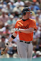 Baltimore Orioles Aubrey Huff during a Grapefruit League Spring Training game at Holman Stadium on March 22, 2007 in Vero Beach, Florida.  (Mike Janes/Four Seam Images)