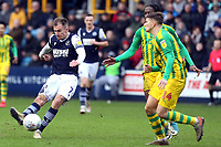 Conor Townsend of West Bromwich Albion and Jed Wallace of Millwall during Millwall vs West Bromwich Albion, Sky Bet EFL Championship Football at The Den on 9th February 2020
