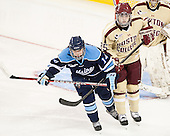Kelly McDonald (Maine - 14), Jackie Young (BC - 25) - The Boston College Eagles defeated the visiting University of Maine Black Bears 10-0 on Saturday, December 1, 2012, at Kelley Rink in Conte Forum in Chestnut Hill, Massachusetts.