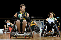 Andrew Edmondson (AUS)  vs Ireland<br /> Australian Wheelchair Rugby Team<br /> 2018 IWRF WheelChair Rugby <br /> World Championship / Day 4<br /> Sydney  NSW Australia<br /> Wednesday 8th August 2018<br /> © Sport the library / Jeff Crow / APC