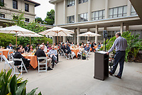 Alumni Board of Governors Annual Meeting and Breakfast at Mosher Patio, Norris Hall of Chemistry<br /> Occidental College hosts its annual Alumni Reunion Weekend, June 22-24, 2018 on campus. This year, alumni from the classes of 1968, 1973, 1978, 1983, 1988, 1993, 1998, 2003, 2008 and 2013 gathered to reconnect with friends and family in the Oxy community.<br /> (Photo by Marc Campos, Occidental College Photographer)