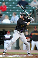 Louisville Bats outfielder Jeremy Hermida #26 at bat during a game against the Rochester Red Wings at Frontier Field on May 9, 2011 in Rochester, New York.  Rochester defeated Louisville by the score of 7-6 in a marathon 18 inning game.  Photo By Mike Janes/Four Seam Images