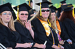 Graduates wait for the start of the 2015 Western Nevada College Commencement held at the Pony Express Pavilion in Carson City, Nev., on Monday, May 18, 2015.<br /> Photo by Tim Dunn