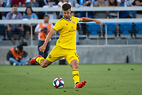 San Jose, CA - Saturday August 03, 2019: Alex Crognale #21 in a Major League Soccer (MLS) match between the San Jose Earthquakes and the Columbus Crew at Avaya Stadium.
