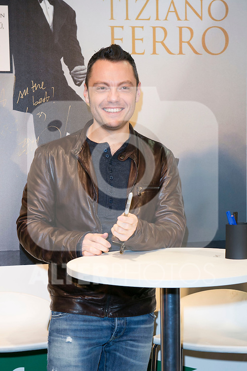 Tiziano Ferro attend the New Album Presentation at El Corte Ingles of Princesa, Madrid,  Spain. March 02, 2015.(ALTERPHOTOS/)Carlos Dafonte)