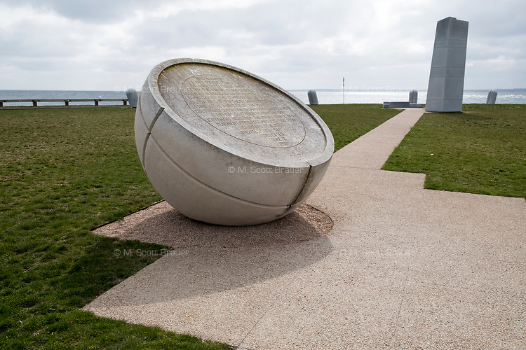 The Portuguese Discovery Monument is located in Brenton Point State Park near Newport, Rhode Island, seen here on Wed., Apr. 19, 2017.