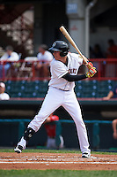 Erie Seawolves designated hitter Dominic Ficociello (23) at bat during a game against the Harrisburg Senators on August 30, 2015 at Jerry Uht Park in Erie, Pennsylvania.  Harrisburg defeated Erie 4-3.  (Mike Janes/Four Seam Images)