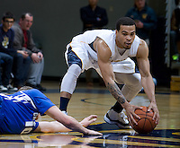 Justin Cobbs of California steals the ball away from Grant Gibbs of Creighton during the game at Haas Pavilion in Berkeley, California on December 15th, 2012.   Creighton defeated California, 74-64.