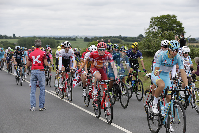 Riders pass through the feed zone at La Hargriniere during Stage 3 of the 2016 Tour de France, running 223.5km from Granville to Angers, France . 4th July 2016.<br /> Picture: Eoin Clarke   Newsfile<br /> <br /> <br /> All photos usage must carry mandatory copyright credit (&copy; Newsfile   Eoin Clarke)