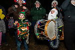 BETHLEHEM, CT. 07 December 2018-120718 - Little drummer boys Kristopher Cuccia, 5, left, and his cousin Francis, 5, both of Bethlehem take a break from playing the drums during the annual Christmastown Festival on the Town Green in Bethlehem on Friday. Bill Shettle Republican-American