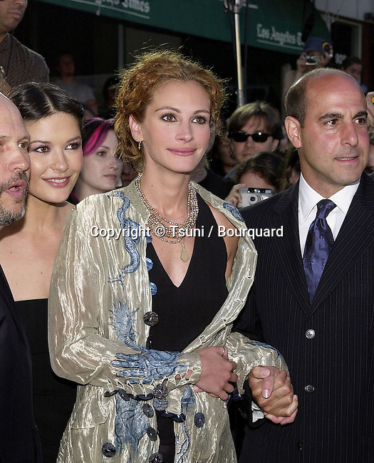 Julia Roberts ( Catherine Zeta Jones and Stanley Tucci ) at the premiere of 'America's Sweethearts' at the Village Theater in Los Angeles, Ca. 7/17/01.           -            RobertsJulia02.jpg