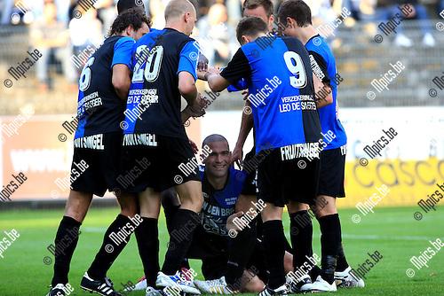2010-08-18 / Voetbal / seizoen 2009-2010 / Rupel-Boom - KV Tienen / Jerry Poorters scoorde de 2-0..Foto: Mpics