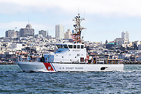 USCGC Hawksbill (WPB-87312) patrols the San Francisco waterfront. The Hawksbill is an 87ft Marine Protector Class Patrol Boat assigned to the US Coast Guard's 11th District, Sector San Francisco and homeported at USCG Station Monterey.