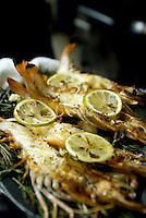 platters from Federico Rigoletti's restaurant Puntarena 17-09-07