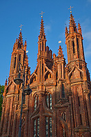 Saint Anne's Church is the most outstanding Gothic building in Vilnius, built 1582.