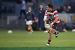 August Pulu looks to pass wide. ITM Cup & Ranfurly Shield rugby match between the Counties Manukau Steelers and the Southland Stags played at Rugby Park, Invercargill, on Saturday 14th of August, 2010..Southland won the game 13 - 9 after leading 11 - 6 at halftime.
