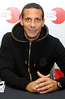Rio Ferdinand signing his book 'Rio: My Decade as a Red' at Waterstones Leadenhall Market, London - October 30th 2013<br /> <br /> Photo by Bob Kent