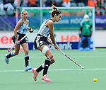 The Hague, Netherlands, June 14: Luciana Aymar #8 of Argentina in action during the field hockey bronze medal match (Women) between USA and Argentina on June 14, 2014 during the World Cup 2014 at Kyocera Stadium in The Hague, Netherlands. Final score 2-1 (2-1)  (Photo by Dirk Markgraf / www.265-images.com) *** Local caption ***