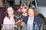 ..PRIZEWINNER: Suzie the pony who was a prizewinner at the Ballinclar Horse and Sheep Fair, in Annascaul on Sunday with his minders from Knocknagoshel, L-r: Una O'Donnell, Niamh O'Connor and Mary Donegan...